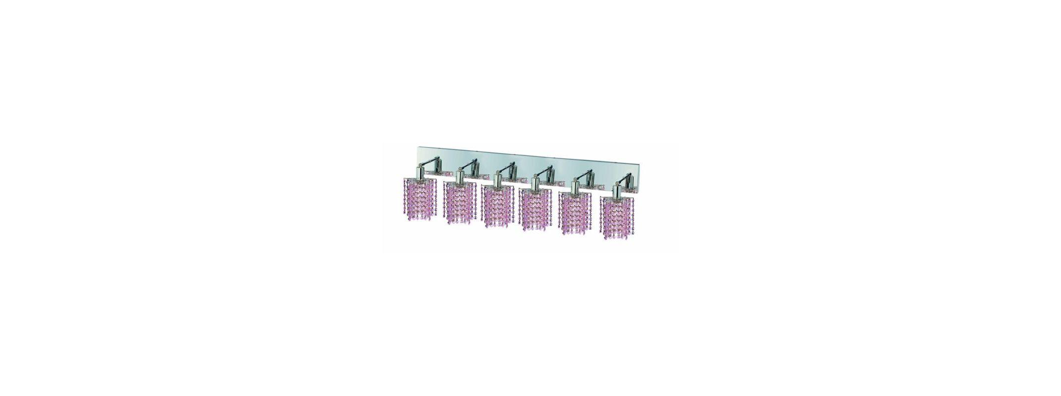 Elegant Lighting 1286W-O-P-RO Mini 6-Light Crystal Wall Sconce