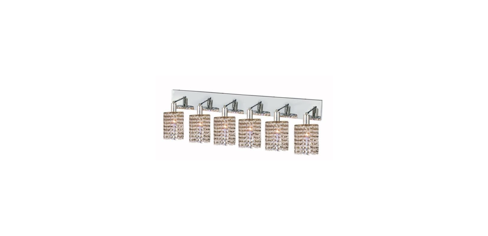 Elegant Lighting 1286W-O-R-CL Mini 6-Light Crystal Wall Sconce