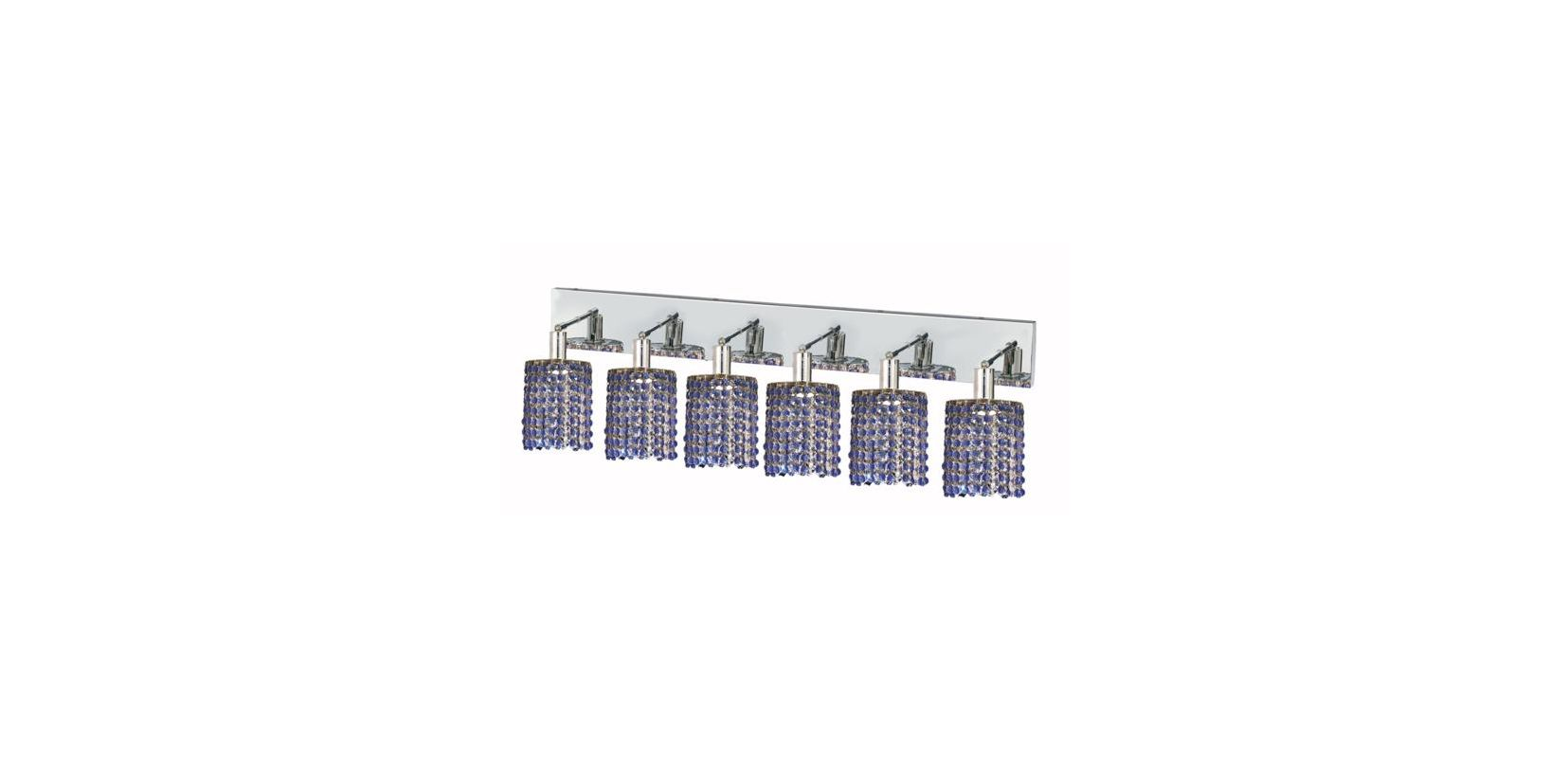 Elegant Lighting 1286W-O-R-SA Mini 6-Light Crystal Wall Sconce