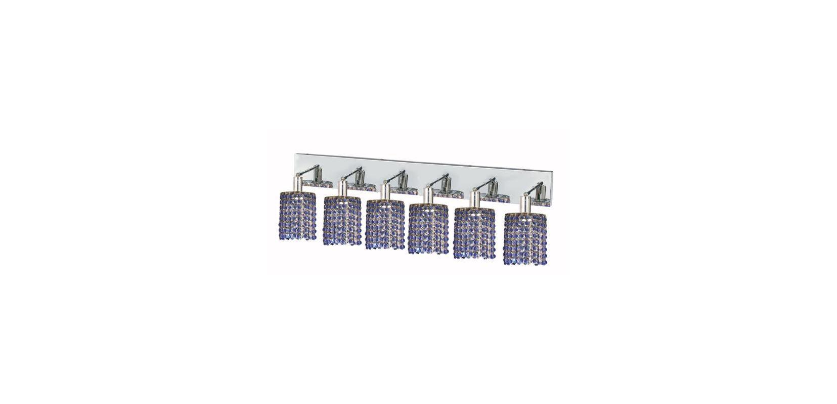 Elegant Lighting 1286W-O-R-SA Mini 6-Light Crystal Wall Sconce