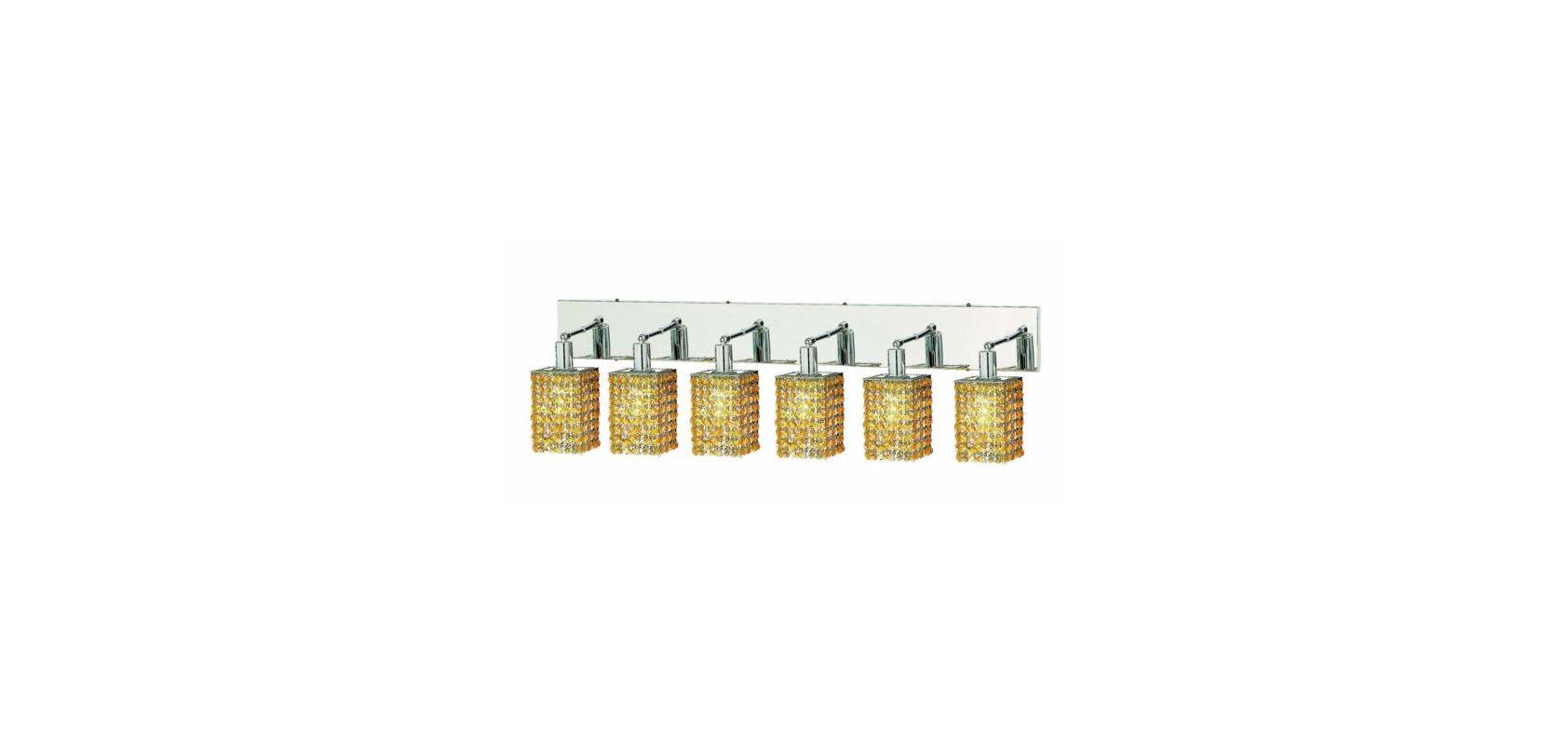 Elegant Lighting 1286W-O-S-LT Mini 6-Light Crystal Wall Sconce