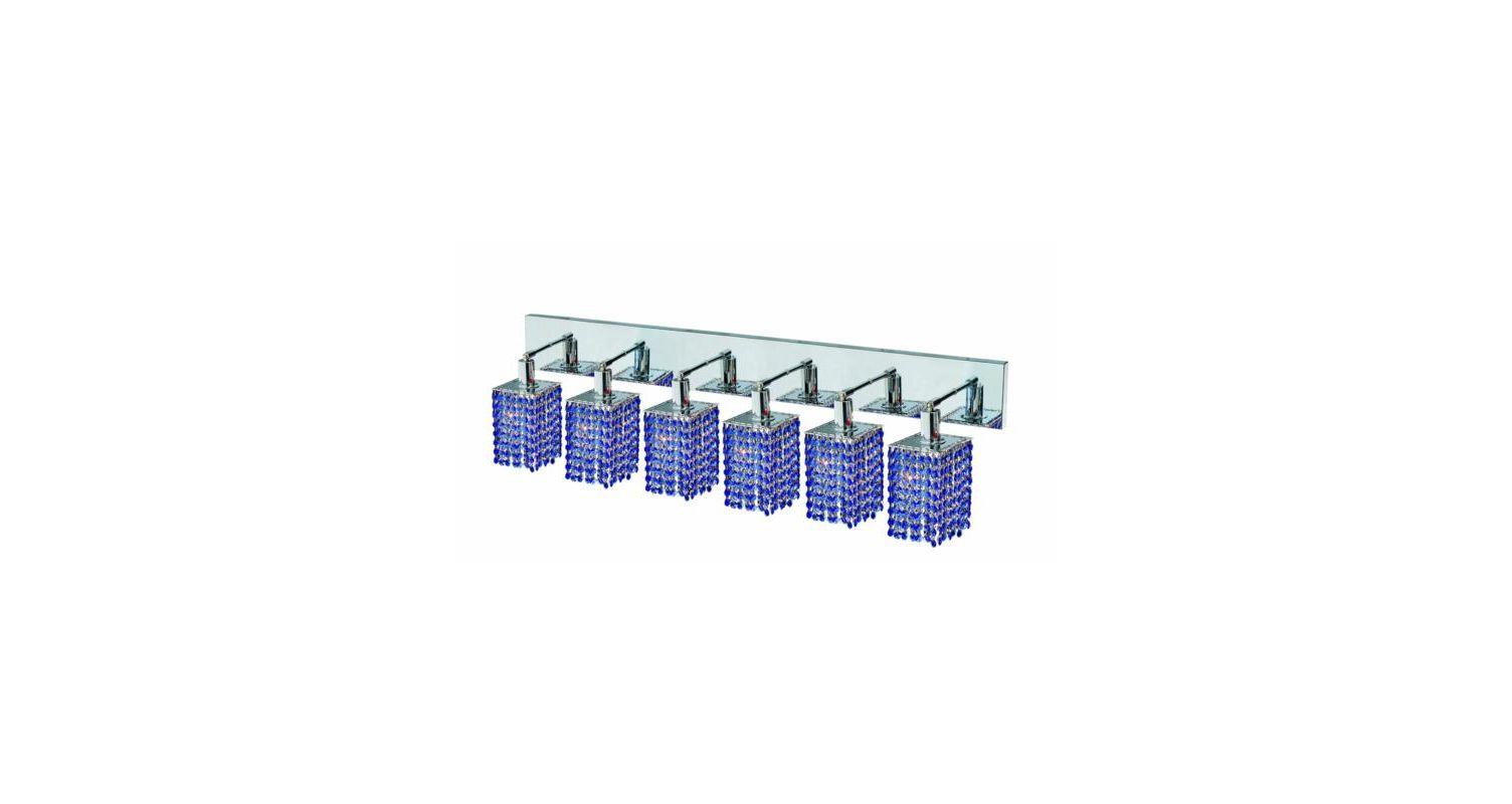 Elegant Lighting 1286W-O-S-SA Mini 6-Light Crystal Wall Sconce Sale $2288.00 ITEM: bci2009681 ID#:1286W-O-S-SA/SS :