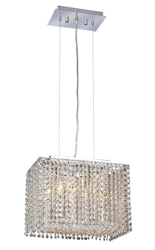 Elegant Lighting 1291D14C-CL Moda 2-Light Crystal Pendant Finished in