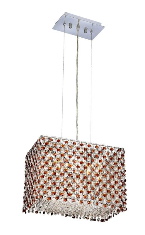 Elegant Lighting 1291D14C-TO Moda 2-Light Crystal Pendant Finished in