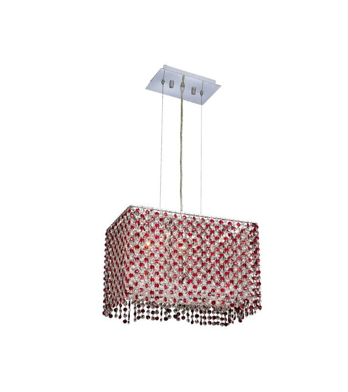 Elegant Lighting 1291D18C-BO Moda 3-Light Crystal Pendant Finished in