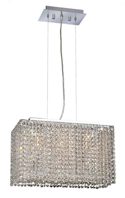 Elegant Lighting 1291D18C-CL Moda 3-Light Crystal Pendant Finished in