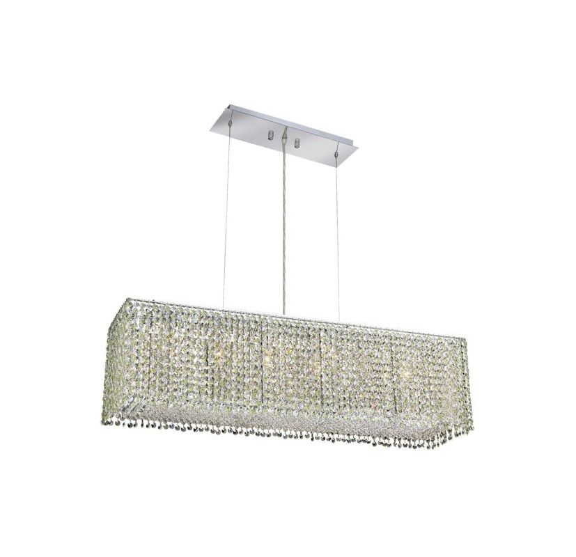 Elegant Lighting 1291D38C-LP Moda 6-Light Crystal Pendant Finished in