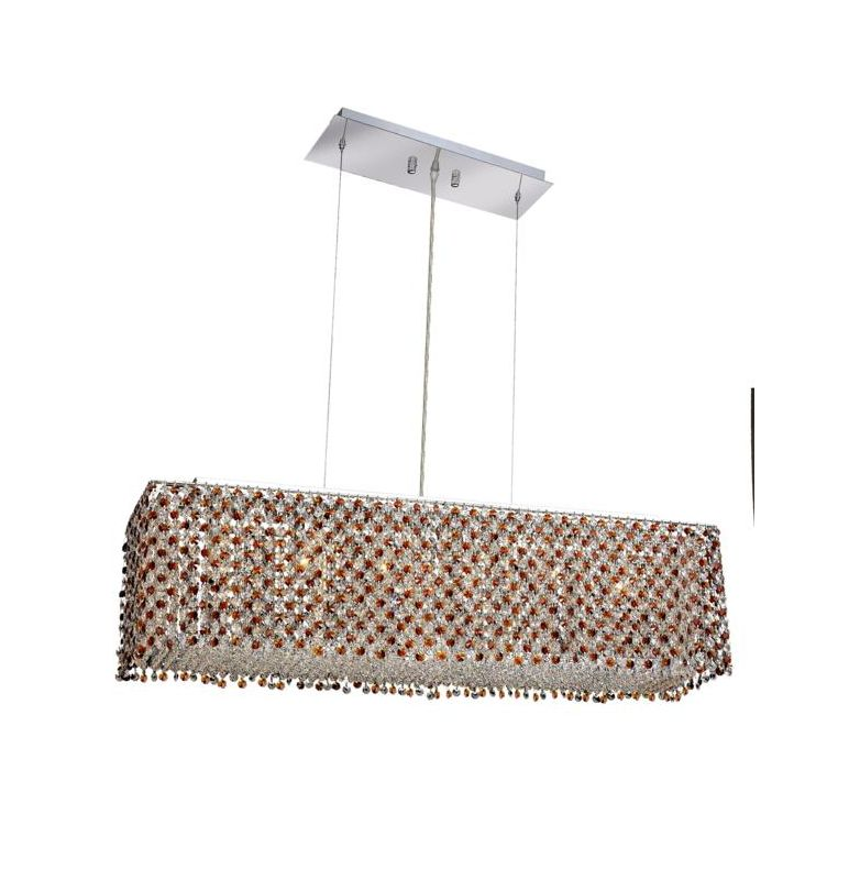 Elegant Lighting 1291D38C-TO Moda 6-Light Crystal Pendant Finished in Sale $4240.00 ITEM: bci2009781 ID#:1291D38C-TO/SS :