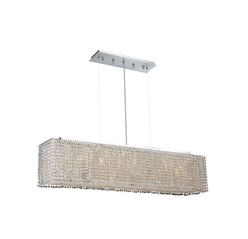 Elegant Lighting 1291D46C-CL Moda 6-Light Crystal Pendant Finished in