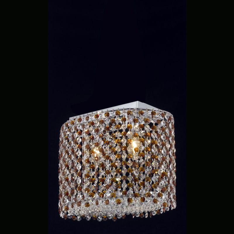 Elegant Lighting 1292D14C-TO Moda 2-Light Crystal Wall Sconce