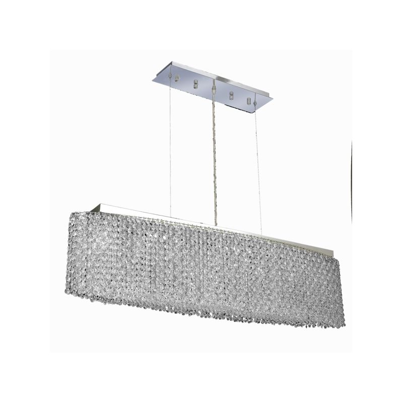Elegant Lighting 1292D46C-CL Moda 8-Light Crystal Pendant Finished in