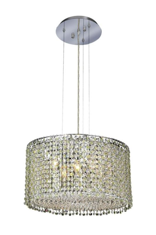 Elegant Lighting 1293D18C-LP Moda 5-Light Crystal Pendant Finished in