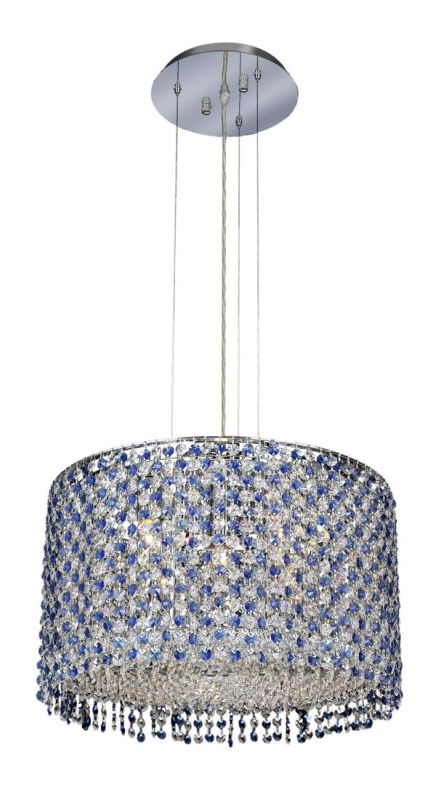 Elegant Lighting 1293D18C-SA Moda 5-Light Crystal Pendant Finished in
