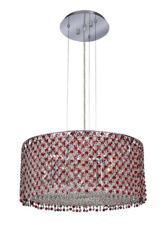 Elegant Lighting 1293D22C-BO Moda 6-Light Crystal Pendant Finished in