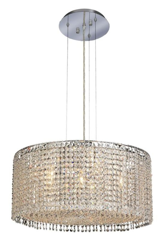 Elegant Lighting 1293D22C-CL Moda 6-Light Crystal Pendant Finished in