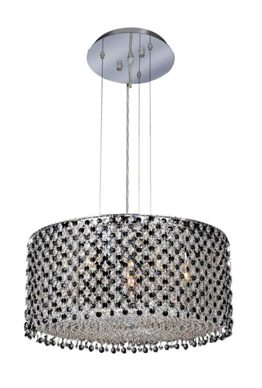 Elegant Lighting 1293D22C-JT Moda 6-Light Crystal Pendant Finished in