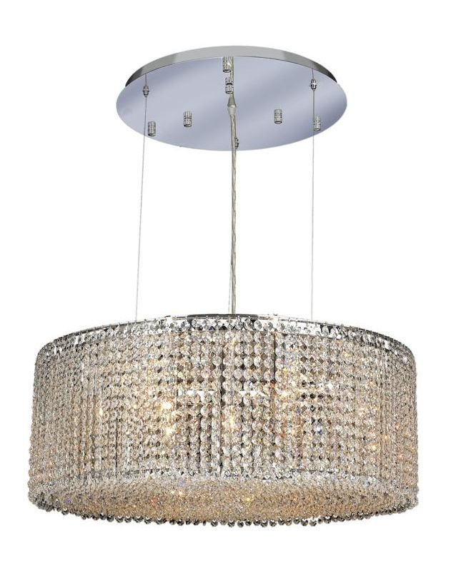 Elegant Lighting 1293D26C-CL Moda 9-Light Crystal Pendant Finished in