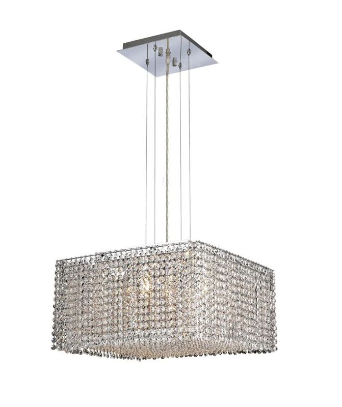 Elegant Lighting 1294D18C-CL Moda 5-Light Crystal Pendant Finished in