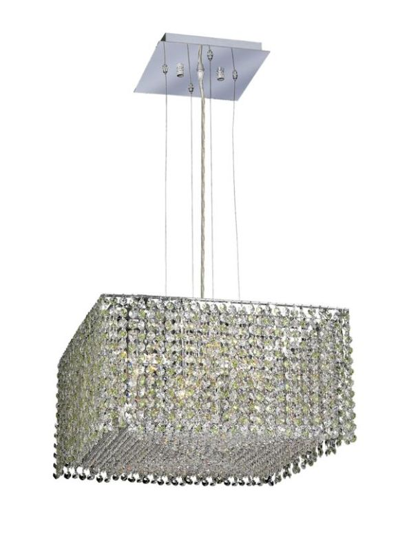 Elegant Lighting 1294D18C-LP Moda 5-Light Crystal Pendant Finished in