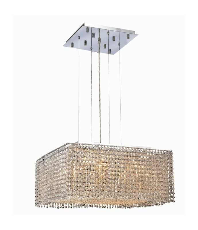 Elegant Lighting 1294D22C-CL Moda 9-Light Crystal Pendant Finished in