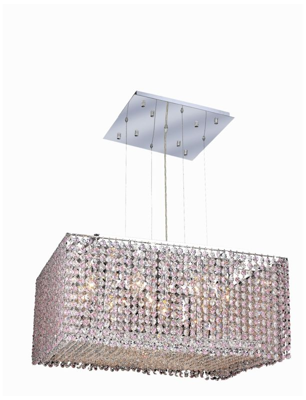 Elegant Lighting 1294D22C-RO Moda 9-Light Crystal Pendant Finished in