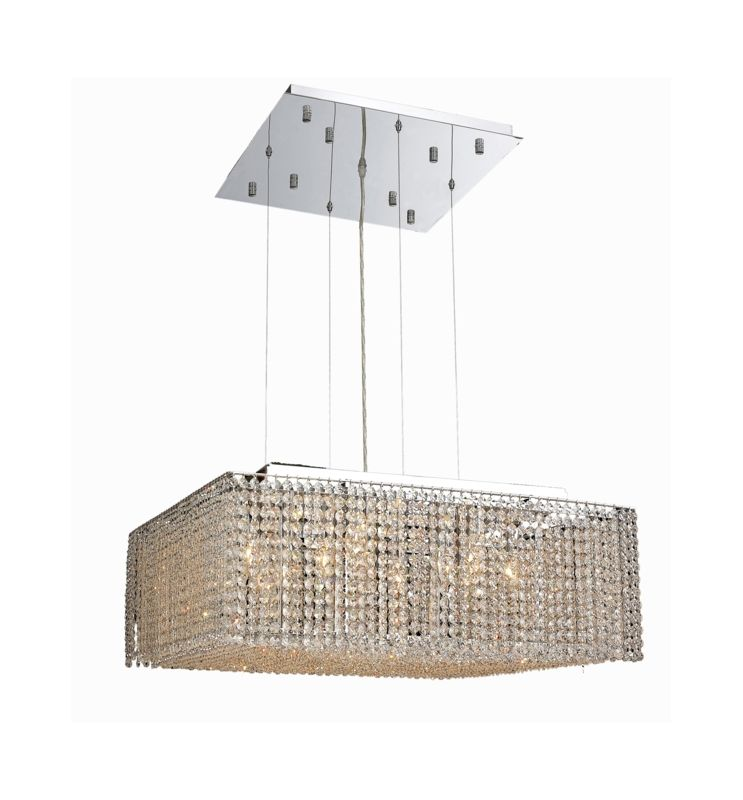Elegant Lighting 1294D26C-CL Moda 13-Light Crystal Pendant Finished