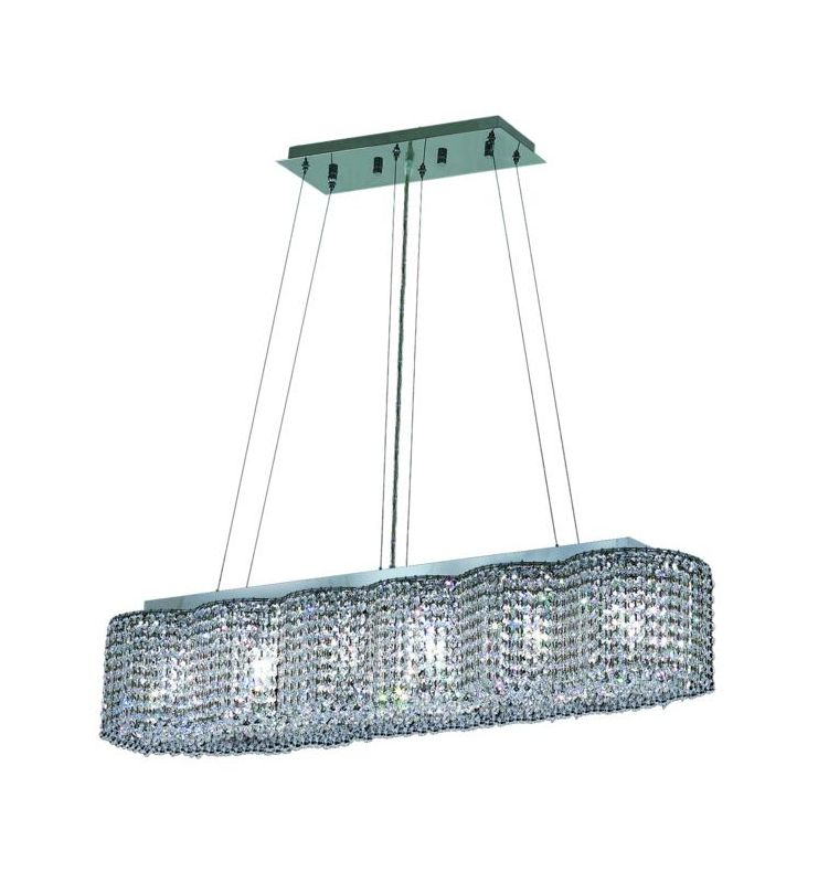 Elegant Lighting 1295D40C-CL Moda 6-Light Crystal Pendant Finished in