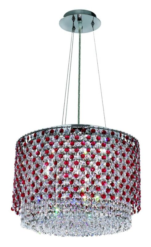 Elegant Lighting 1298D16C-BO Moda 4-Light Crystal Pendant Finished in