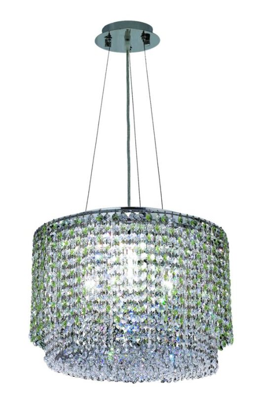 Elegant Lighting 1298D16C-LP Moda 4-Light Crystal Pendant Finished in