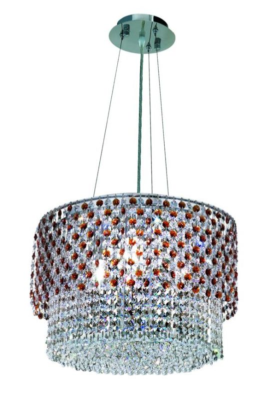 Elegant Lighting 1298D16C-TO Moda 4-Light Crystal Pendant Finished in