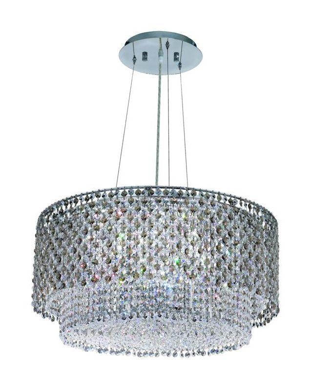 Elegant Lighting 1298D24C-GT Moda 5-Light Crystal Pendant Finished in