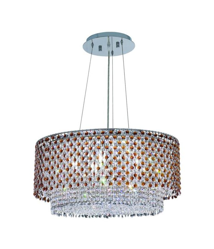 Elegant Lighting 1298D24C-TO Moda 5-Light Crystal Pendant Finished in