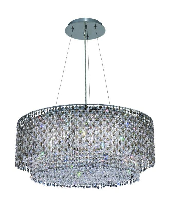 Elegant Lighting 1298D28C-GT Moda 5-Light Crystal Pendant Finished in Sale $1430.00 ITEM: bci2010188 ID#:1298D28C-GT/RC UPC: 609613238956 :
