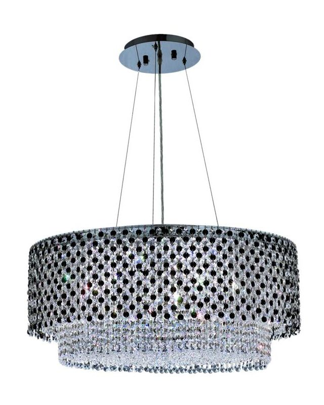 Elegant Lighting 1298D28C-JT Moda 5-Light Crystal Pendant Finished in