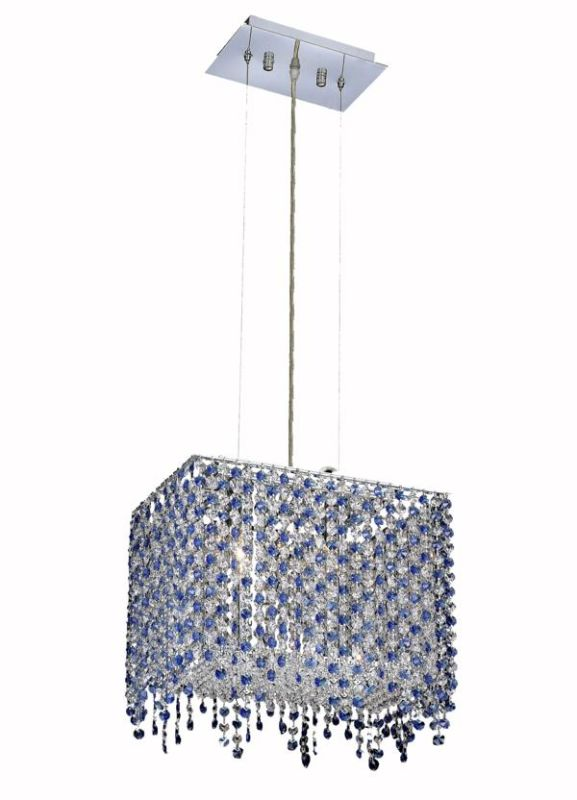 Elegant Lighting 1391D14C-SA Moda 2-Light Crystal Pendant Finished in