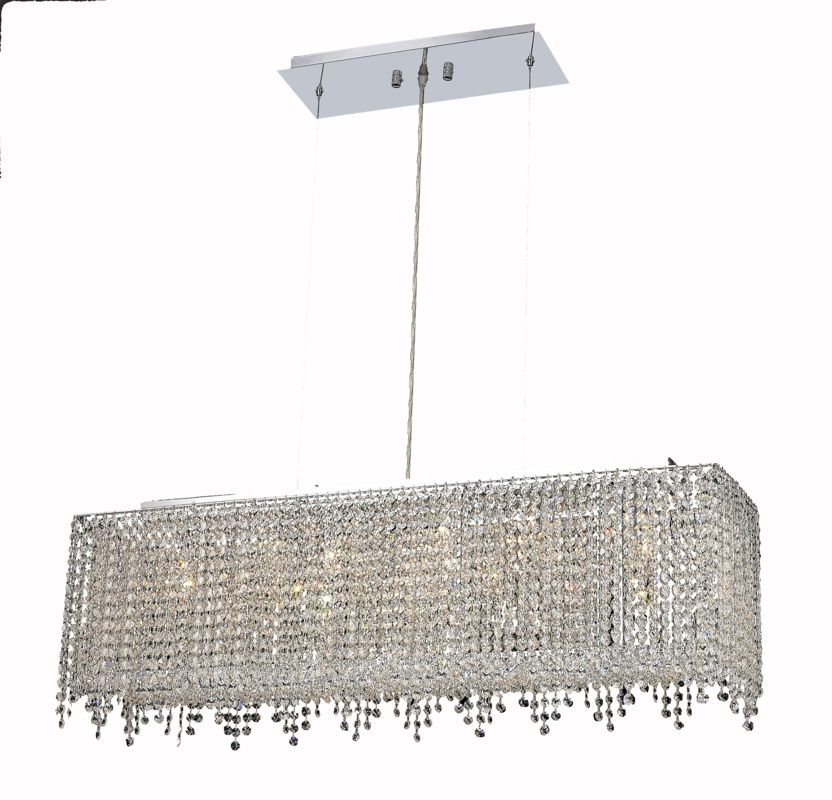 Elegant Lighting 1391D32C-CL Moda 6-Light Crystal Pendant Finished in