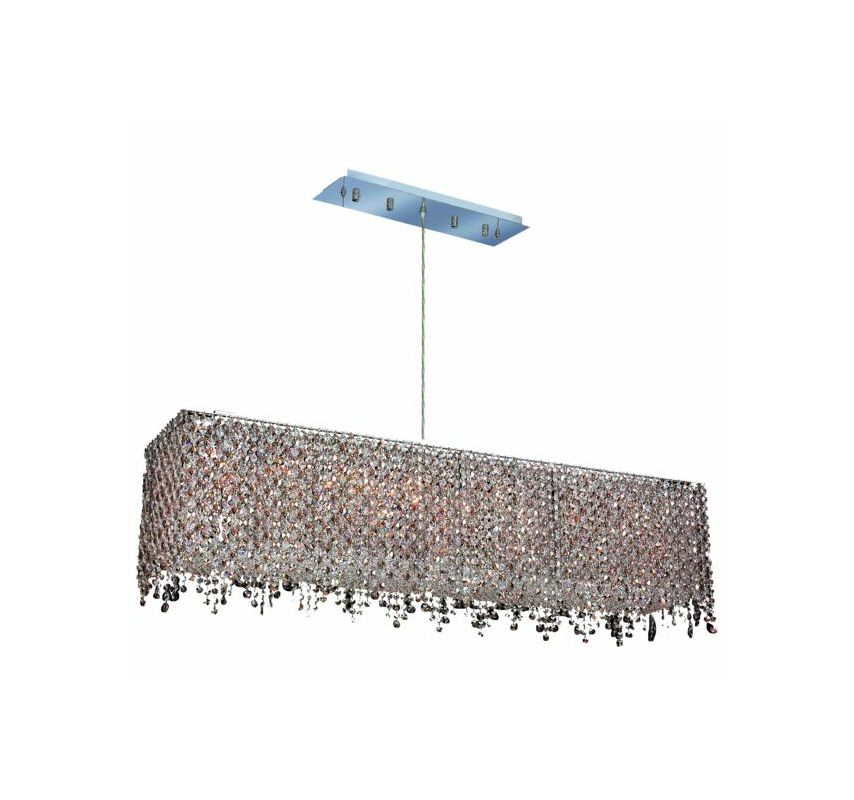 Elegant Lighting 1391D46C-GT Moda 8-Light Crystal Pendant Finished in
