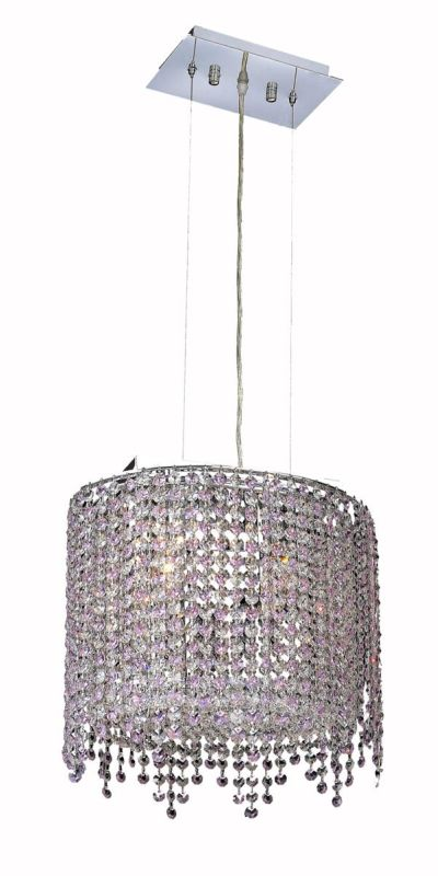 Elegant Lighting 1392D14C-RO Moda 2 Light Crystal Pendant with