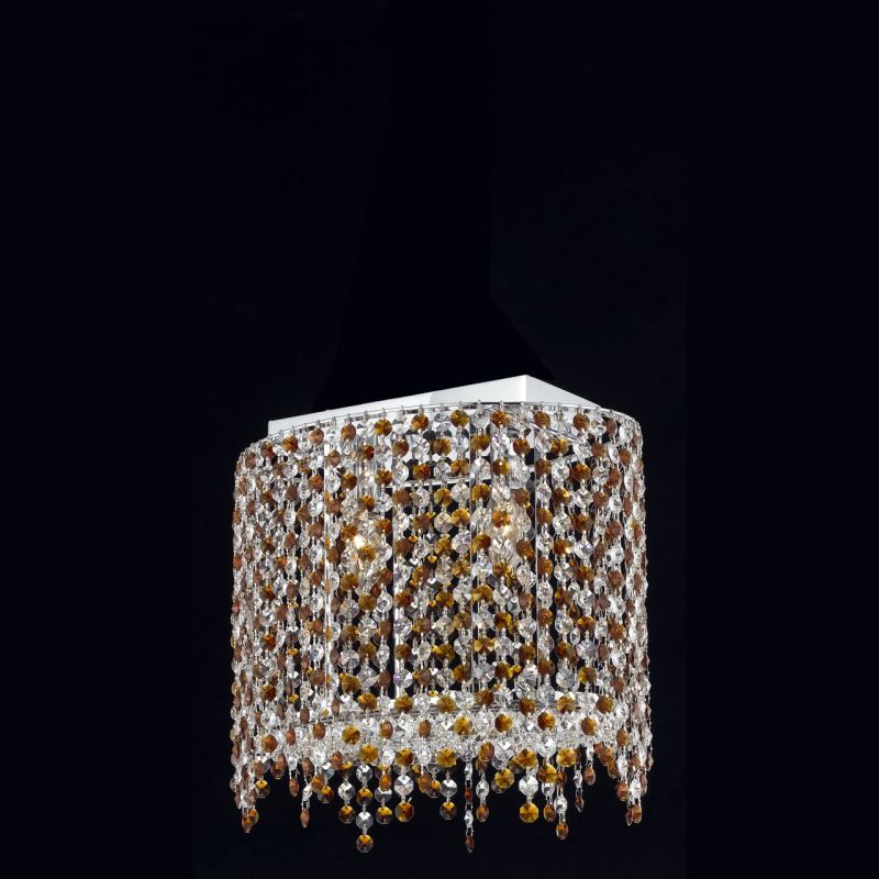 Elegant Lighting 1392D14C-TO Moda 2 Light Crystal Wall Sconce with