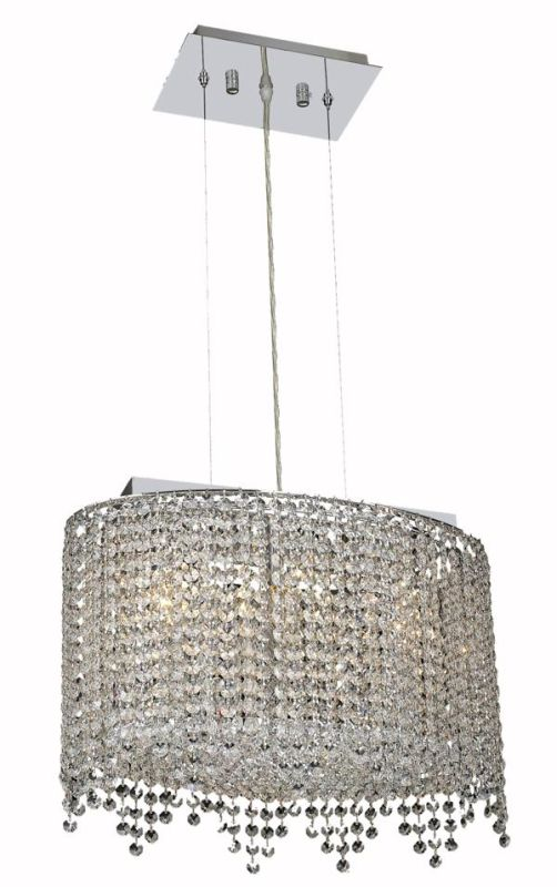 Elegant Lighting 1392D18C-CL Moda 3-Light Crystal Pendant Finished in