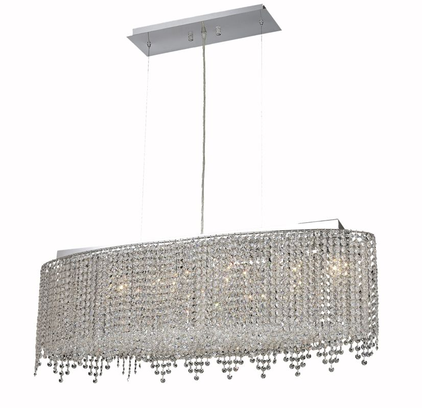 Elegant Lighting 1392D32C-CL Moda 6-Light Crystal Chandelier Finished