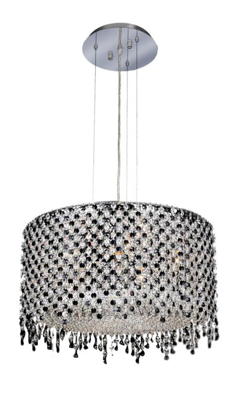 Elegant Lighting 1393D22C-JT Moda 6-Light Crystal Pendant Finished in Sale $3460.00 ITEM: bci2011729 ID#:1393D22C-JT/SS :