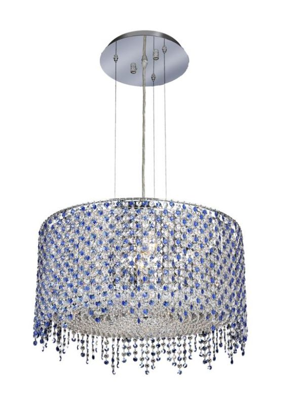 Elegant Lighting 1393D22C-SA Moda 6-Light Crystal Pendant Finished in Sale $3564.00 ITEM: bci2011737 ID#:1393D22C-SA/SS :