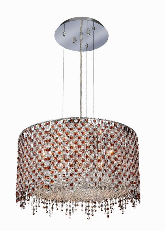 Elegant Lighting 1393D22C-TO Moda 6-Light Crystal Pendant Finished in