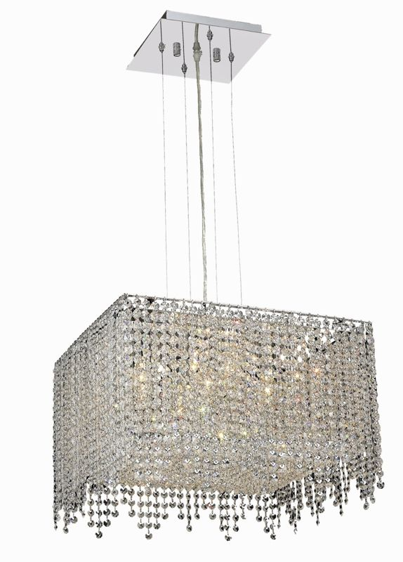 Elegant Lighting 1394D18C-CL Moda 5-Light Crystal Pendant Finished in