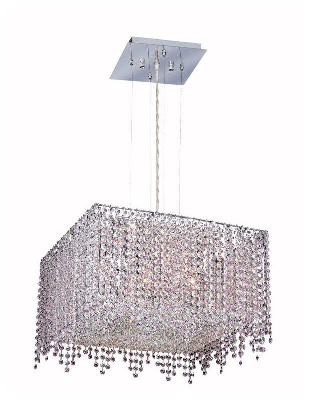 Elegant Lighting 1394D18C-RO Moda 5-Light Crystal Pendant Finished in Sale $3690.00 ITEM: bci2011759 ID#:1394D18C-RO/SS :