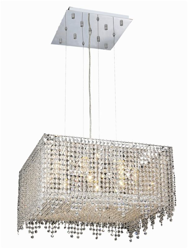 Elegant Lighting 1394D22C-CL Moda 9-Light Crystal Pendant Finished in