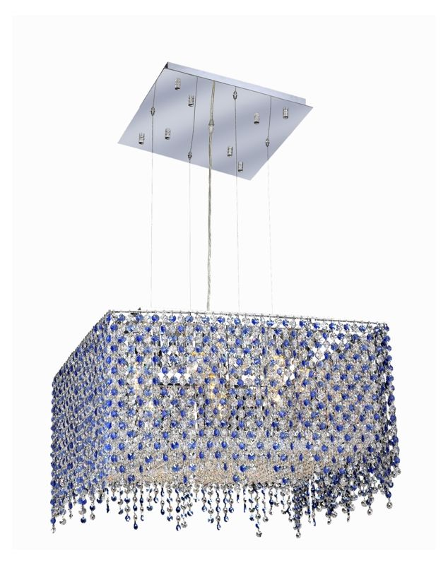 Elegant Lighting 1394D22C-SA Moda 9-Light Crystal Pendant Finished in Sale $1600.00 ITEM: bci2011776 ID#:1394D22C-SA/RC UPC: 609613247286 :