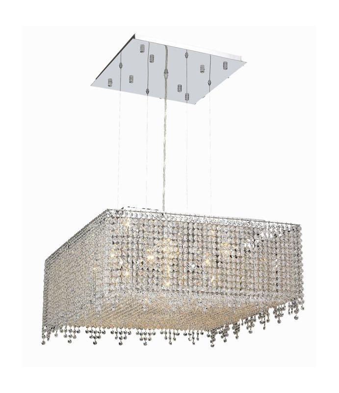 Elegant Lighting 1394D26C-CL Moda 13-Light Crystal Pendant Finished