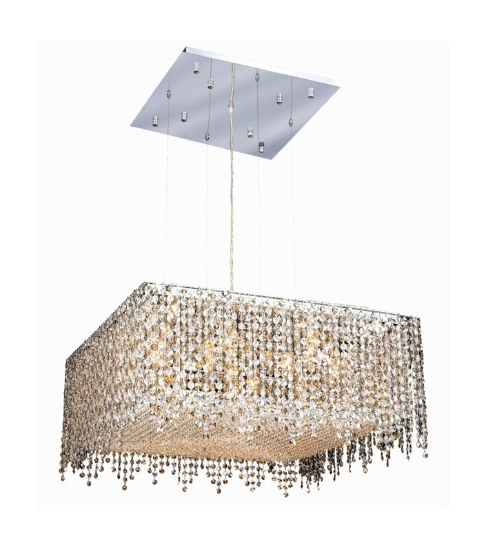 Elegant Lighting 1394D26C-GT Moda 13-Light Crystal Pendant Finished